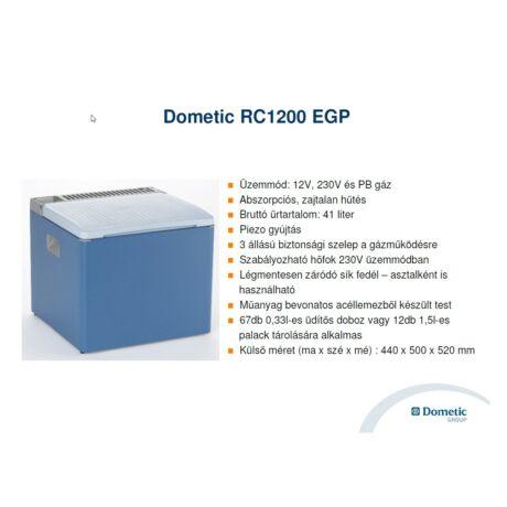 DOMETIC RC 1200 EGP Abszorpciós hűtőláda