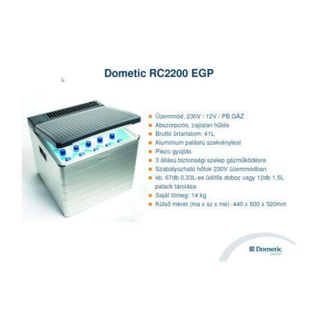 Dometic RC2200 EGP Abszorpciós hűtőláda