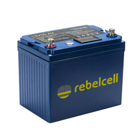 Rebelcell 12V 50A AV-AKKU Akkumulátor  + töltő